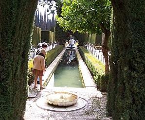 Al fresco en los jardines del Generalife