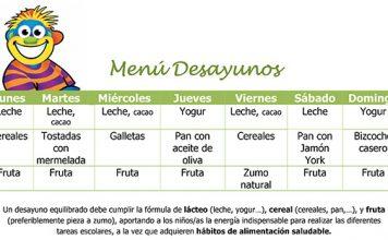 menu desayunos semanal 550